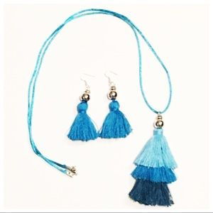 NWOT Tassel Necklace and Earring Set